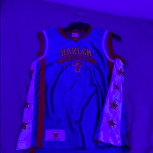 Signed #7 Too Tall Globetrotters Jersey